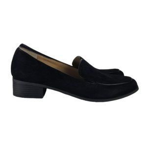Me Too Jayme Black Faux Suede Loafers